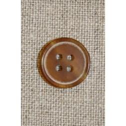 Beige 4-huls knap 15 mm.-20