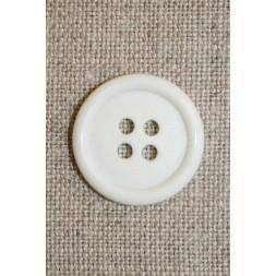 Hvid 4-huls knap 20 mm.-20