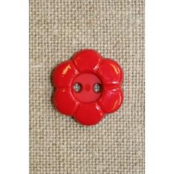 Blomster knap 2-huls rød-20