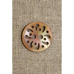 Beige knap m/hulmønster,15 mm-20