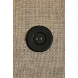 Sort 2-huls knap 25 mm-20