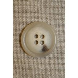 Off-white knap m/brun plet, 18 mm.-20