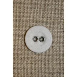 Hvid lærreds knap 14 mm.-20