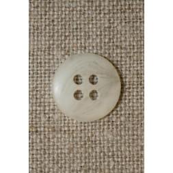 Off-white meleret knap 12 mm.-20