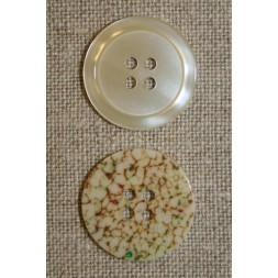 Off-white knap m/mønstret bagside-20