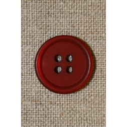 Rød 4-huls knap 17 mm.-20