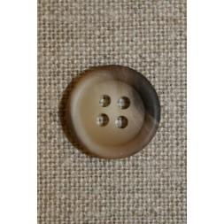 4-huls knap beige/brun 15 mm.-20
