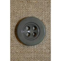 Grå 4-huls knap 16 mm.-20