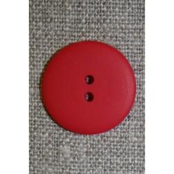 Rød 2-huls knap, 20 mm.-20