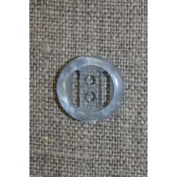 Lyseblå klar knap, 15 mm.-20