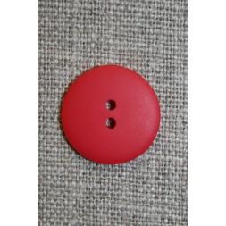 Rød 2-huls knap, 17 mm.-20