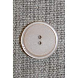 Beige 2-huls knap, 18 mm.-20