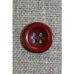 Bordeaux 4-huls knap, 12 mm.-20