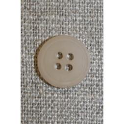 Beige 4-huls knap, 12 mm.-20