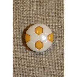 Fodbold knap gul/hvid-20