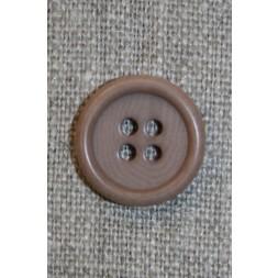 Lysebrun 4-huls knap, 16 mm.-20