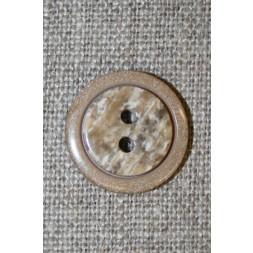 2-huls knap lysebrun m/meleret midte-20