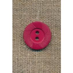 Hindbærrød knap m/riller-20