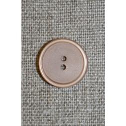 Lysebrun/beige 2-huls knap, 15 mm.-20