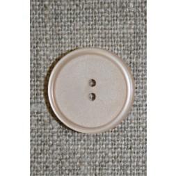 Creme/pudder 2-huls knap, 20 mm.-20