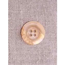 Laks/beige krakeleret knap 18 mm.-20