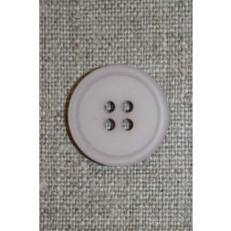 Lys grå-lilla 4-huls knap, 20 mm.-20