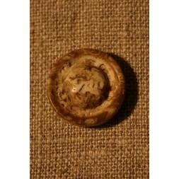 Off-white/brun knap, 18 mm.-20
