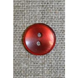 Koral-rød blank knap,-20