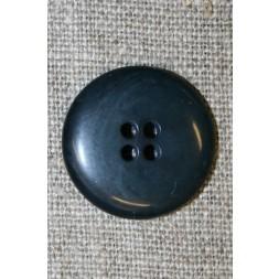 Blå-grå 4-huls knap, 20 mm.-20