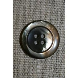 4-huls knap brun meleret 22 mm.-20