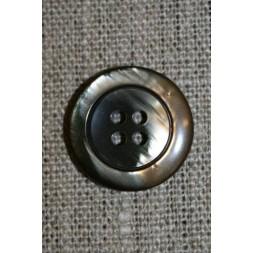 4-huls knap brun meleret 20 mm.-20