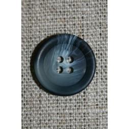 Grå/blå-meleret 4-huls knap-20