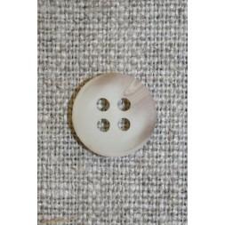 Off-white/lysebrun meleret 4-huls knap, 13 mm.-20