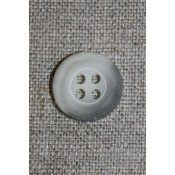 Grå-meleret 4-huls knap, 15 mm.-20