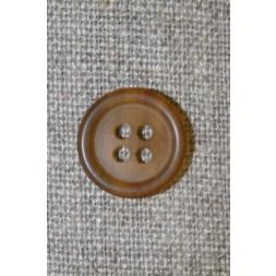Meleret knap klar/brun , 15 mm-20