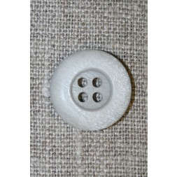 Lysegrå 4-huls knap, 18 mm.-20