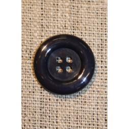 Mørkeblå 4-huls knap, 20 mm.-20