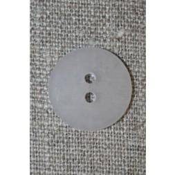 Hvid/klar 2-huls knap. 18 mm.-20