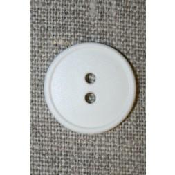 Knækket hvid 2-huls knap, 20 mm.-20