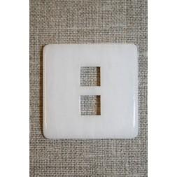 Stor firkantet knap, hvid-20