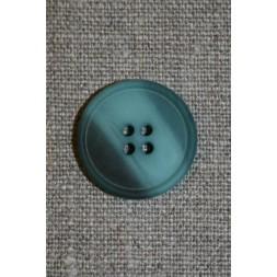 Aqua/petrol meleret knap, 22 mm.-20