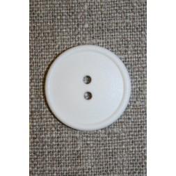 Hvid 2-huls knap, 22 mm.-20