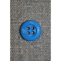4-huls knap 12 mm, klar blå-20