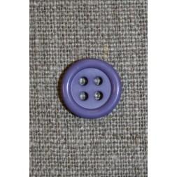 Lavendel 4-huls knap, 13 mm.-20