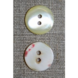 2-huls creme perlemorsknap, 16 mm.-20