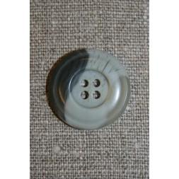 Grå-meleret 4-huls knap, 22 mm.-20