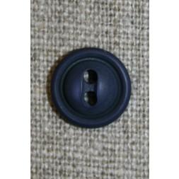 Blå 2-huls knap, 12 mm.-20
