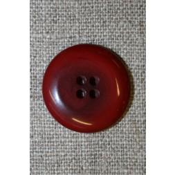 Mørk rød-meleret 4-huls knap, 22 mm.-20