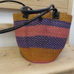 Kurv taske Ladies Handbag i orange lilla pink-20