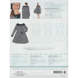 70046 Minikrea Jersey kjole med læg voksne-20